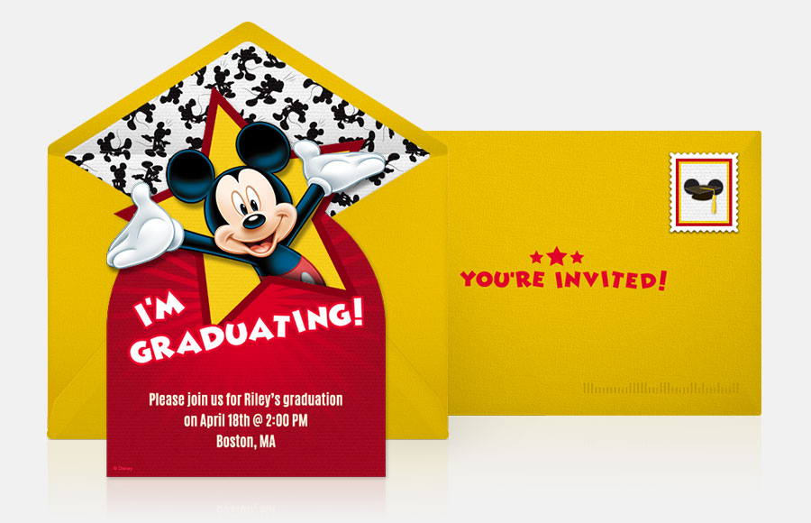 Plan a Mickey Graduation Party!