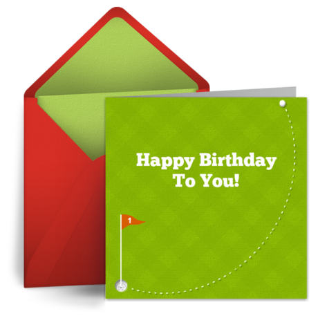 Happy Birthday Golf – Birthday Cards Golf