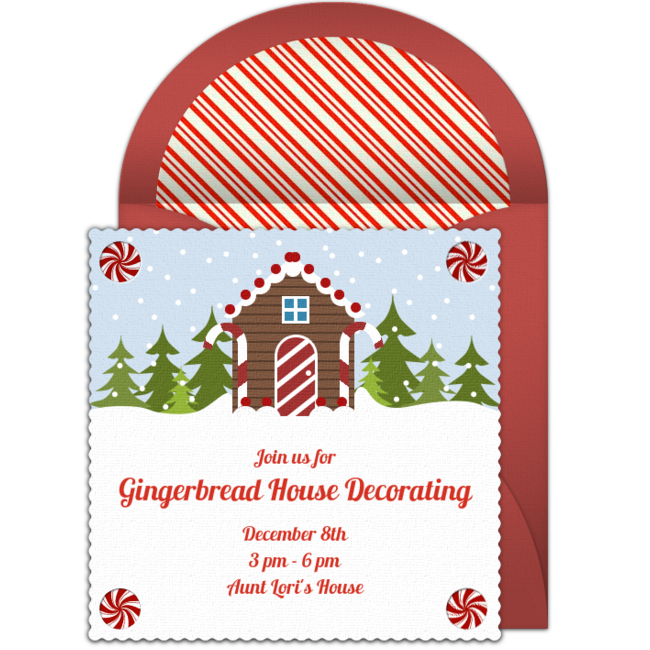 Free gingerbread house online invitation punchbowl gingerbread house online invitation stopboris Choice Image