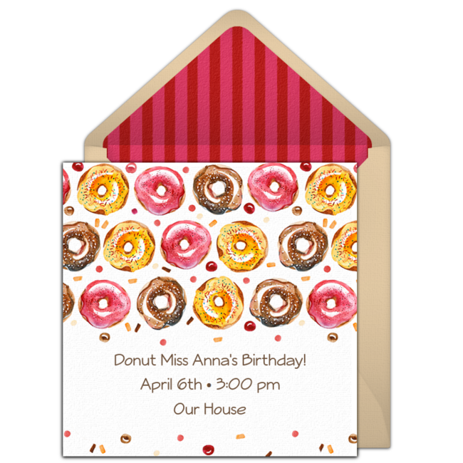 Free donuts online invitation punchbowl donuts online invitation stopboris Choice Image
