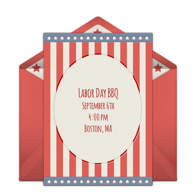 This is an image of Free Printable Patriotic Invitations in patriotic party