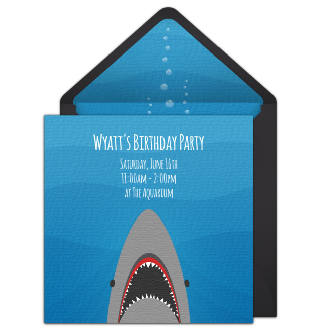 Free Shark Online Invitation Punchbowl Com