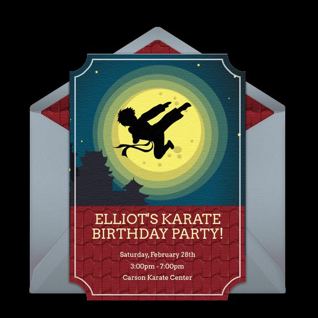 Karate Online Invitation