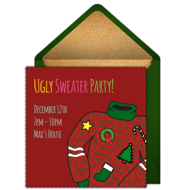 Ugly Sweater Party Online Invitation