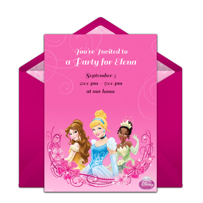 Free Disney Princess Online Invitation Punchbowl Com