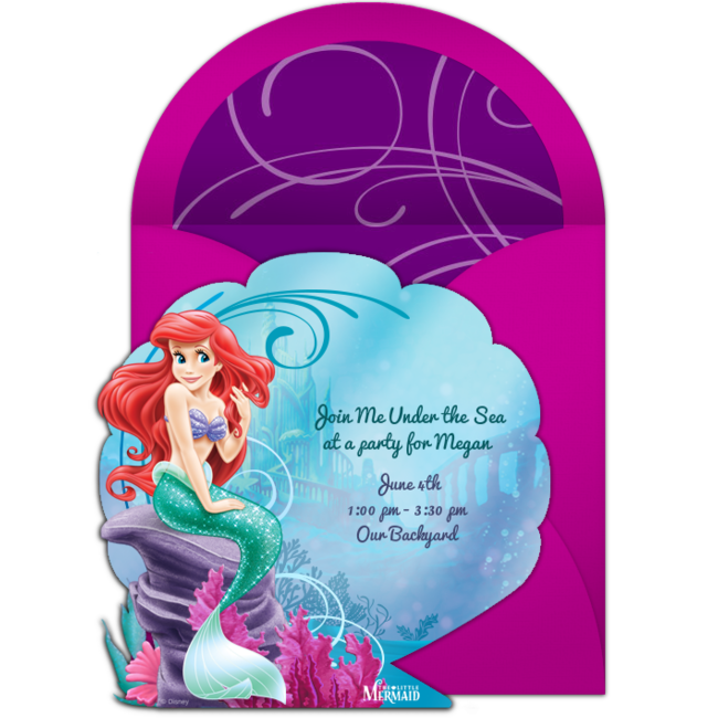 Free The Little Mermaid Online Invitation Punchbowl Com