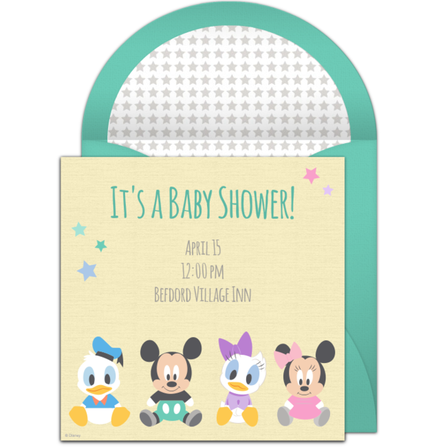 Free disney baby shower online invitation punchbowl disney baby shower online invitation filmwisefo