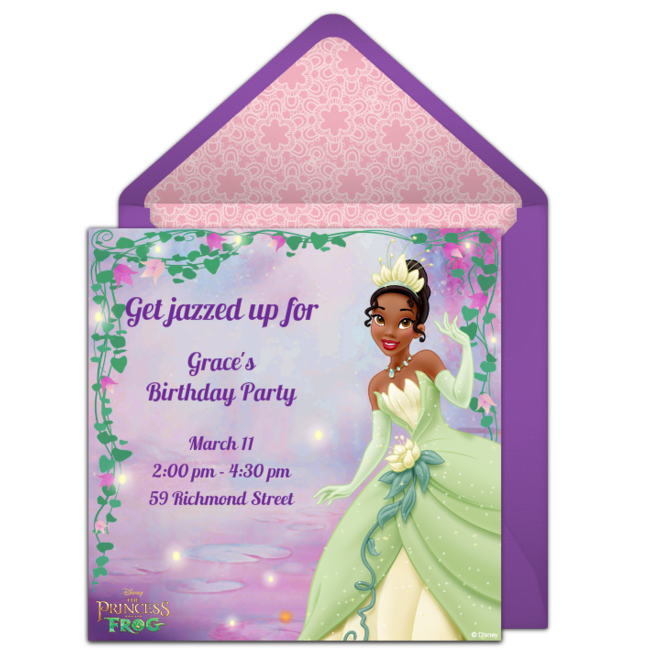 Free Princess And The Frog Online Invitation Punchbowl