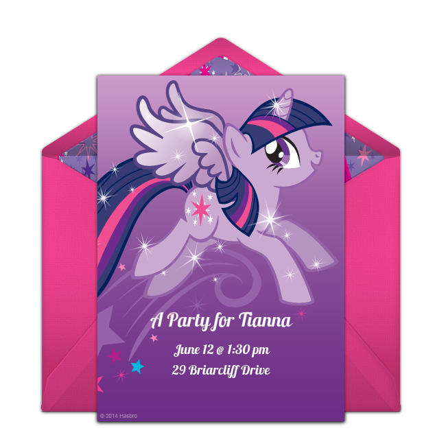 free twilight sparkle online invitation punchbowl com