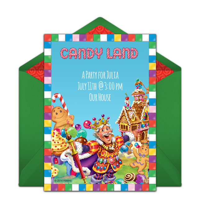 Free Candy Land Online Invitation Punchbowlcom