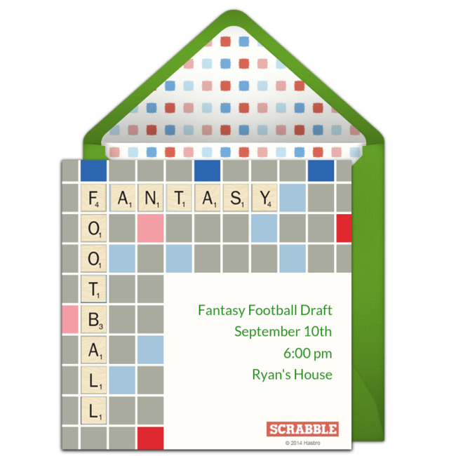 Free Scrabble Football Online Invitation - Punchbowl com