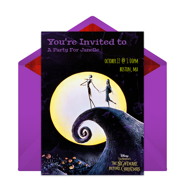The Nightmare Before Christmas Online Invitation