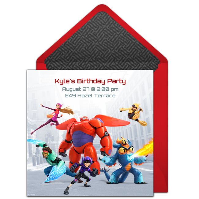 Big Hero 6 Online Invitation