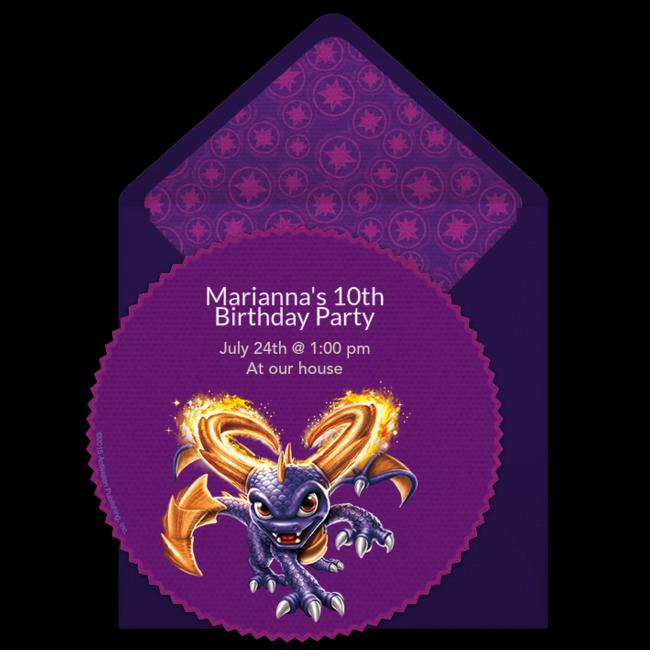 Skylanders Spyro Online Invitation