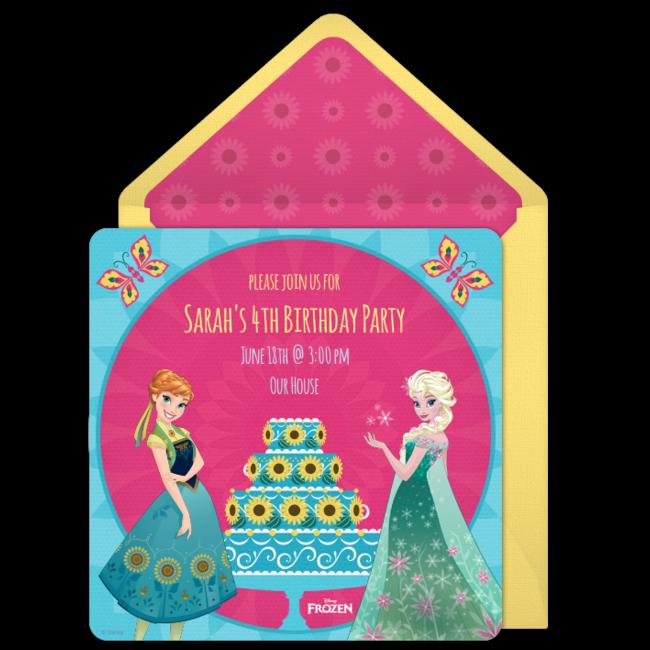 Free Frozen Fever Birthday Online Invitation Punchbowlcom