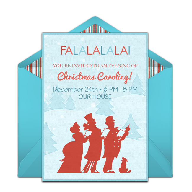 Free Christmas Caroling Online Invitation - Punchbowl.com