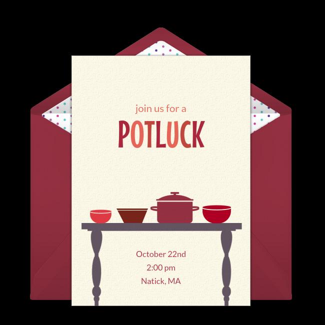 Free Potluck Online Invitation Punchbowl Com
