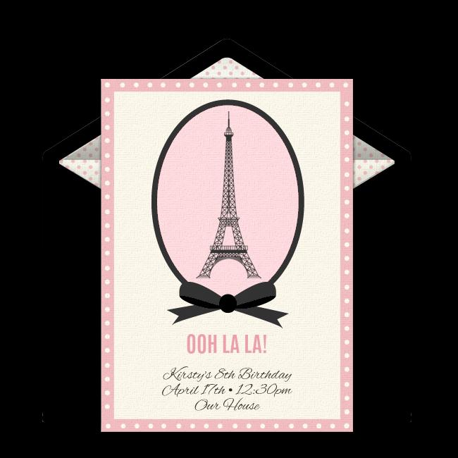 Paris Online Invitation