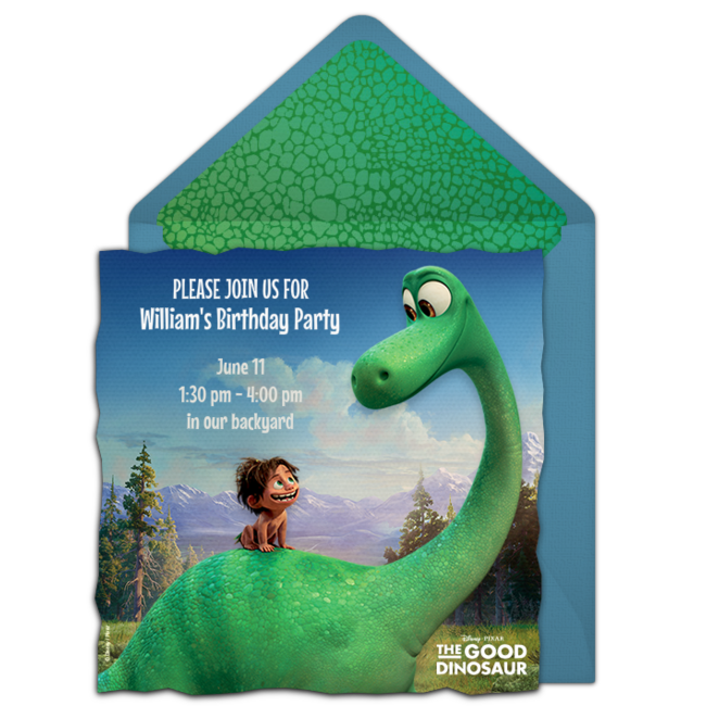 Free The Good Dinosaur Online Invitation Punchbowlcom