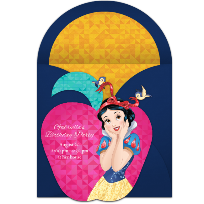 free snow white online invitation punchbowl com