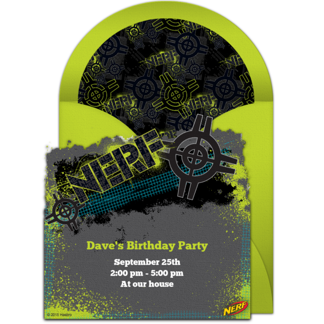 graphic regarding Free Printable Nerf Birthday Invitations named Free of charge NERF Concentration On line Invitation -