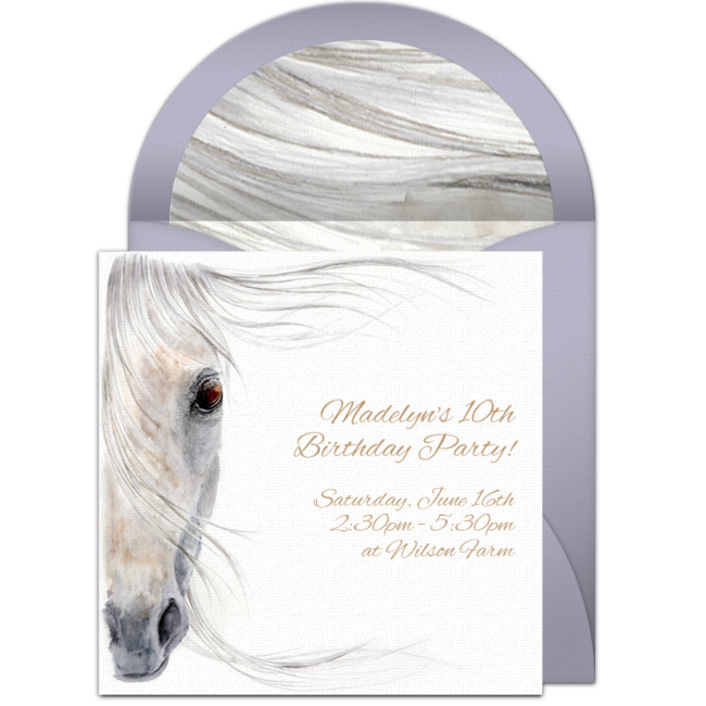 Beautiful Horse Online Invitation
