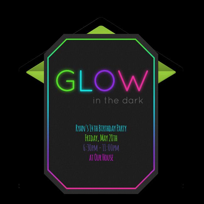 Free Glow In The Dark Online Invitation