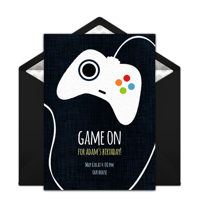 game controller online invitation