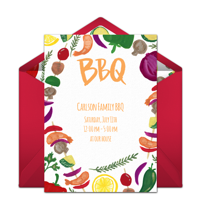 free summer cookout online invitation punchbowl com