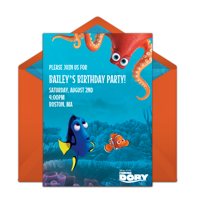 Finding Dory Friends Online Invitation