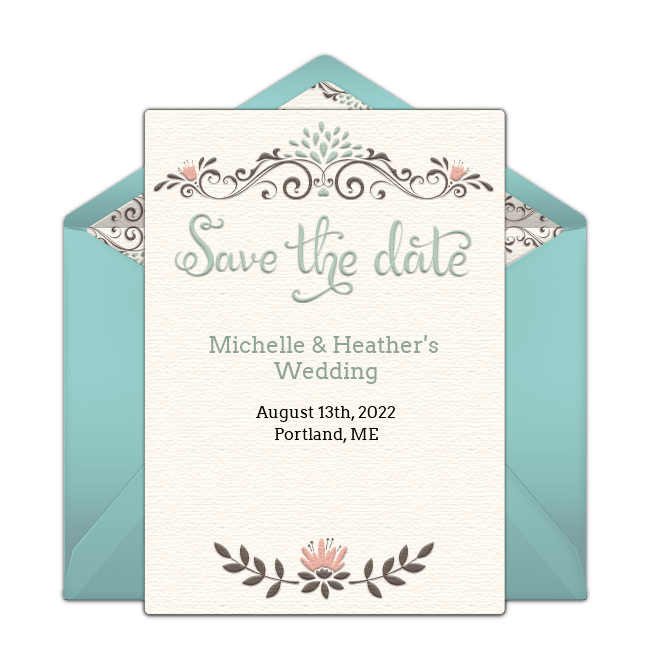 free rustic wedding save the date online invitation punchbowl com