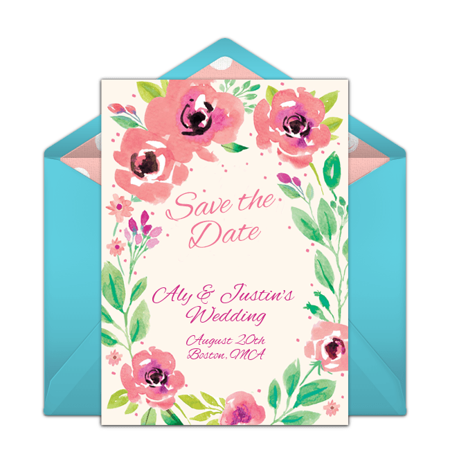 free summer blossoms save the date online invitation punchbowl com