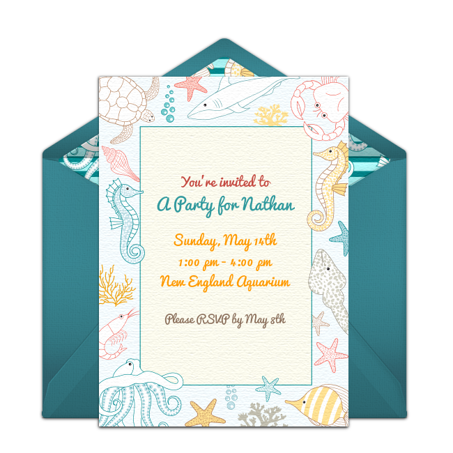 Under The Sea Birthday Online Invitation