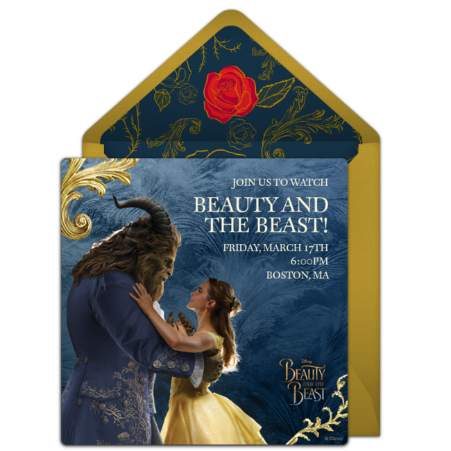 image about Free Printable Beauty and the Beast Birthday Invitations known as Cost-free Elegance and the Beast On the internet Invitation -