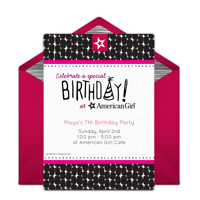 Free American Girl Birthday Online Invitation Punchbowl Com