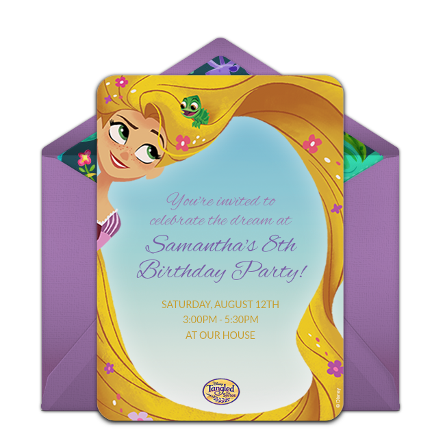 Free Tangled The Series Online Invitation Punchbowl Com