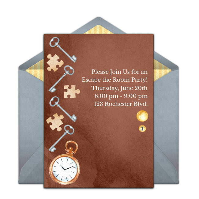 Free Escape The Room Online Invitation Punchbowl Com
