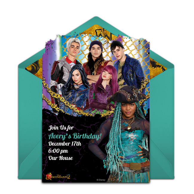 free descendants 2 online invitation punchbowl com