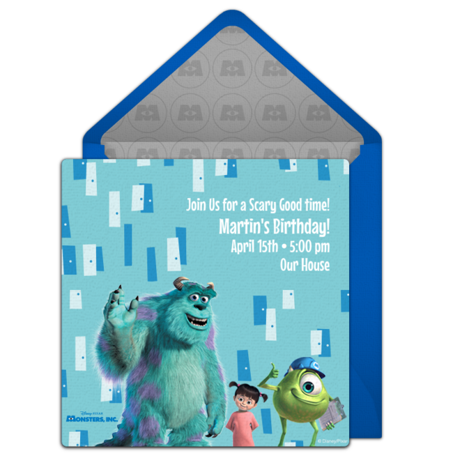 Free Monsters Inc Online Invitation