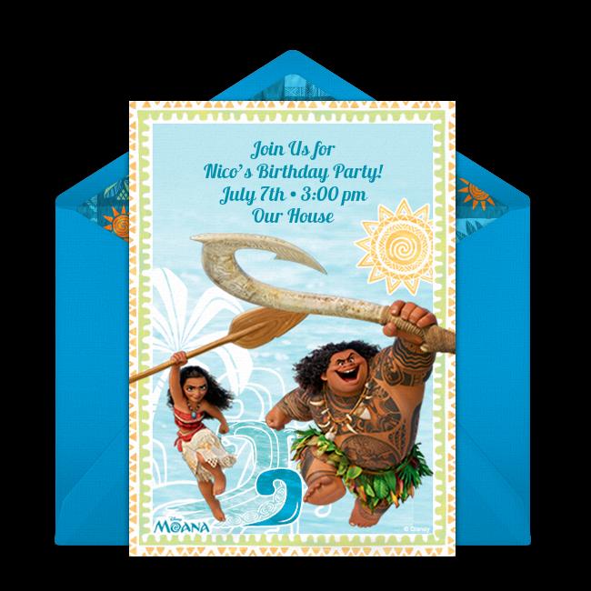 Moana Maui Online Invitation