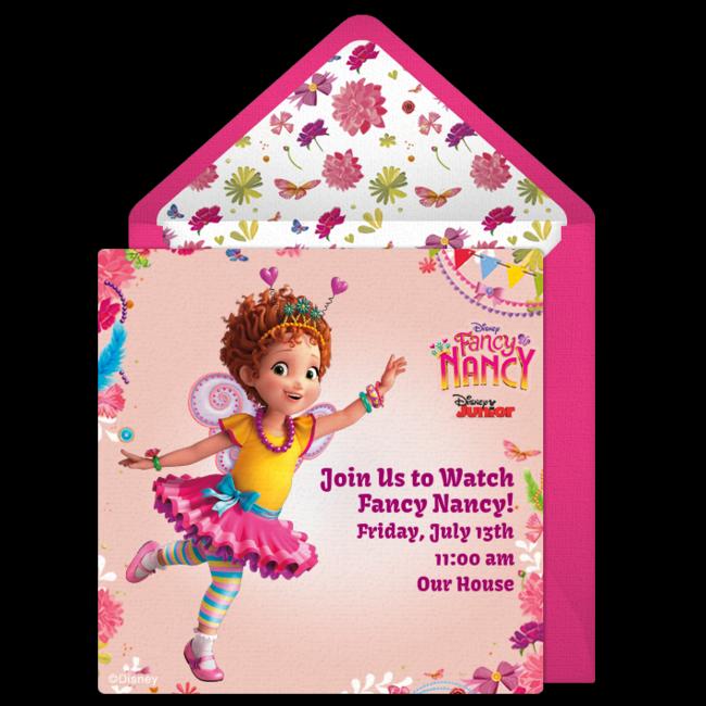 Fancy Nancy Online Invitation