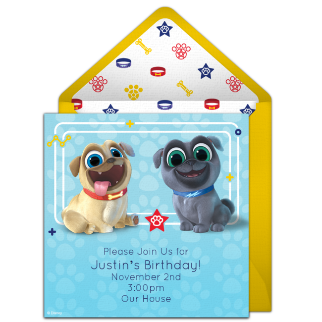 Free Puppy Dog Pals Online Invitation