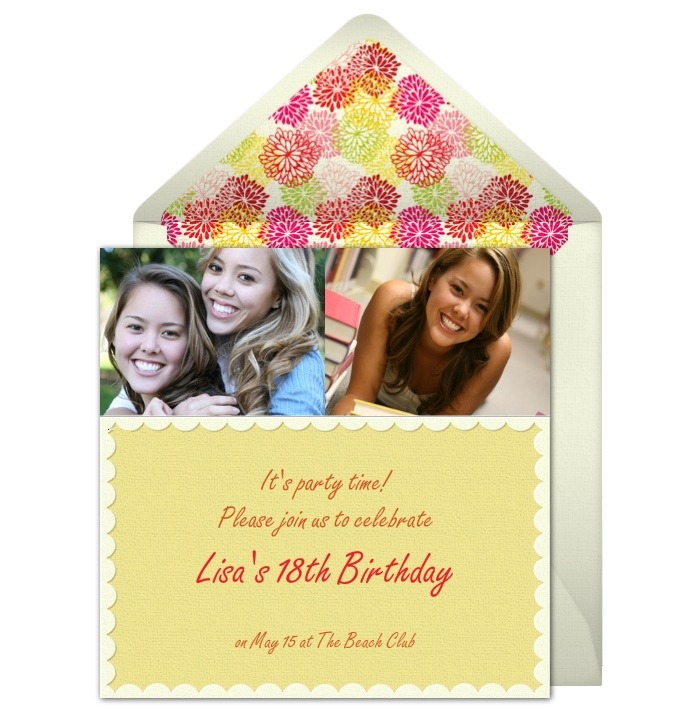 18th birthday invitations, Birthday invitations