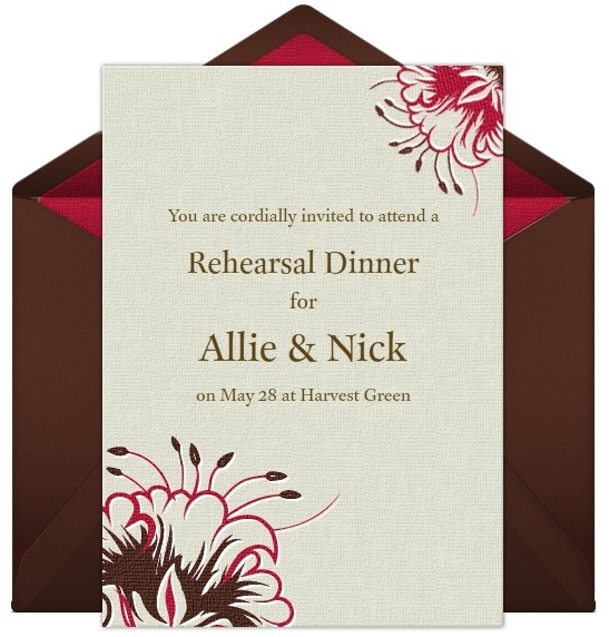 rehearsal dinner invitations, Quinceanera invitations