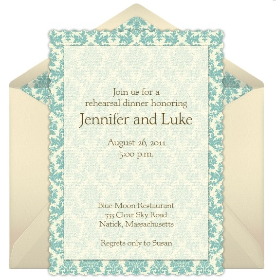 Rehearsal Dinner Invitation Wording – After Rehearsal Dinner Party Invitations