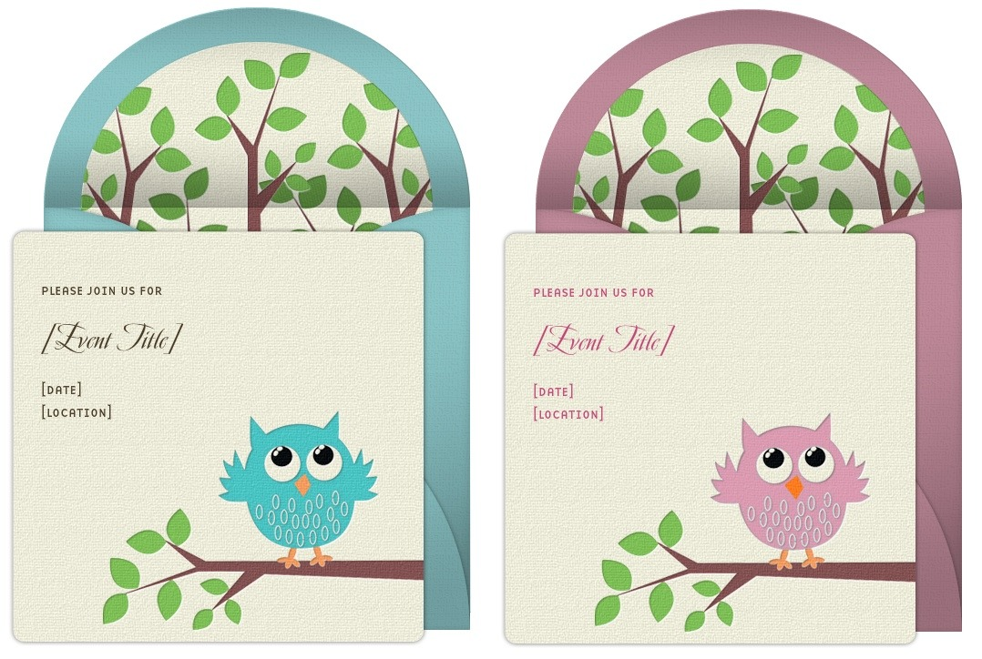 cute girl pink invitations purple shower owl zkrqe invitation baby