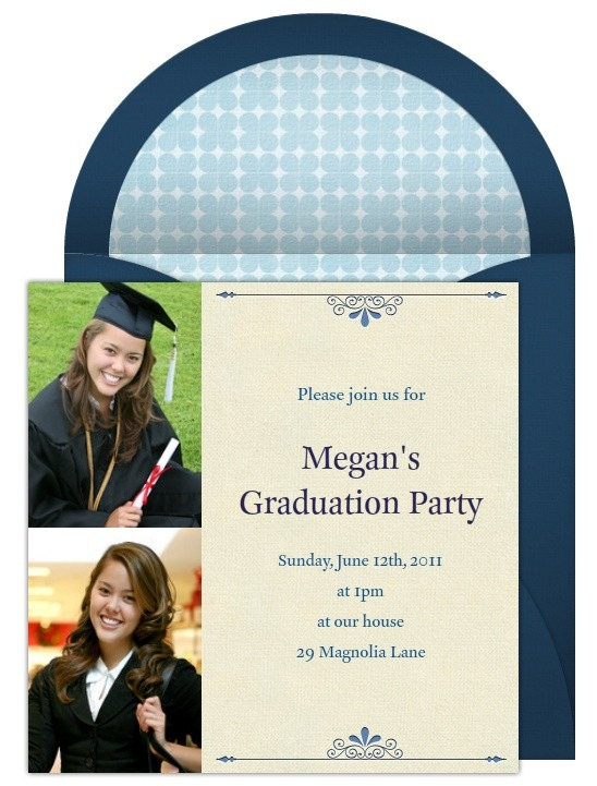 Graduation photo invitations photo graduation invitations are also appropriate from all types of graduation parties from pre school and middle school to high school and college filmwisefo