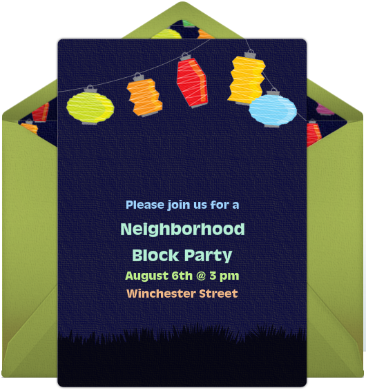 Ways to Get to Know Your Neighbors – Block Party Invites