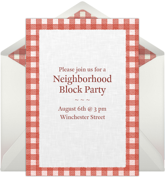 Block Party Invitation Template gangcraftnet