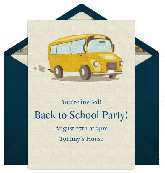 Invitations for Your Back to School Party – Invitations for Party